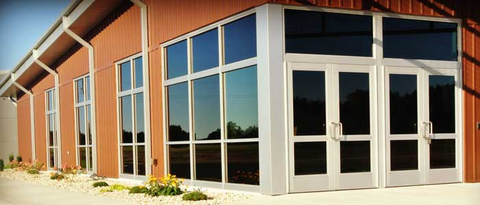 commercial glass entry system in west Michigan