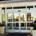 commercial glass entry door system