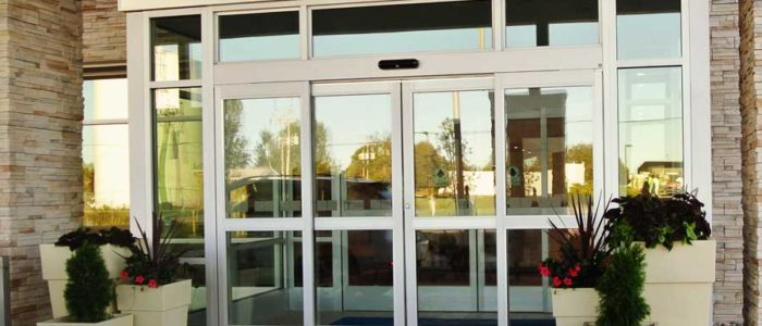commercial glass door system in west Michigan