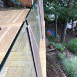 custom glass railing on deck